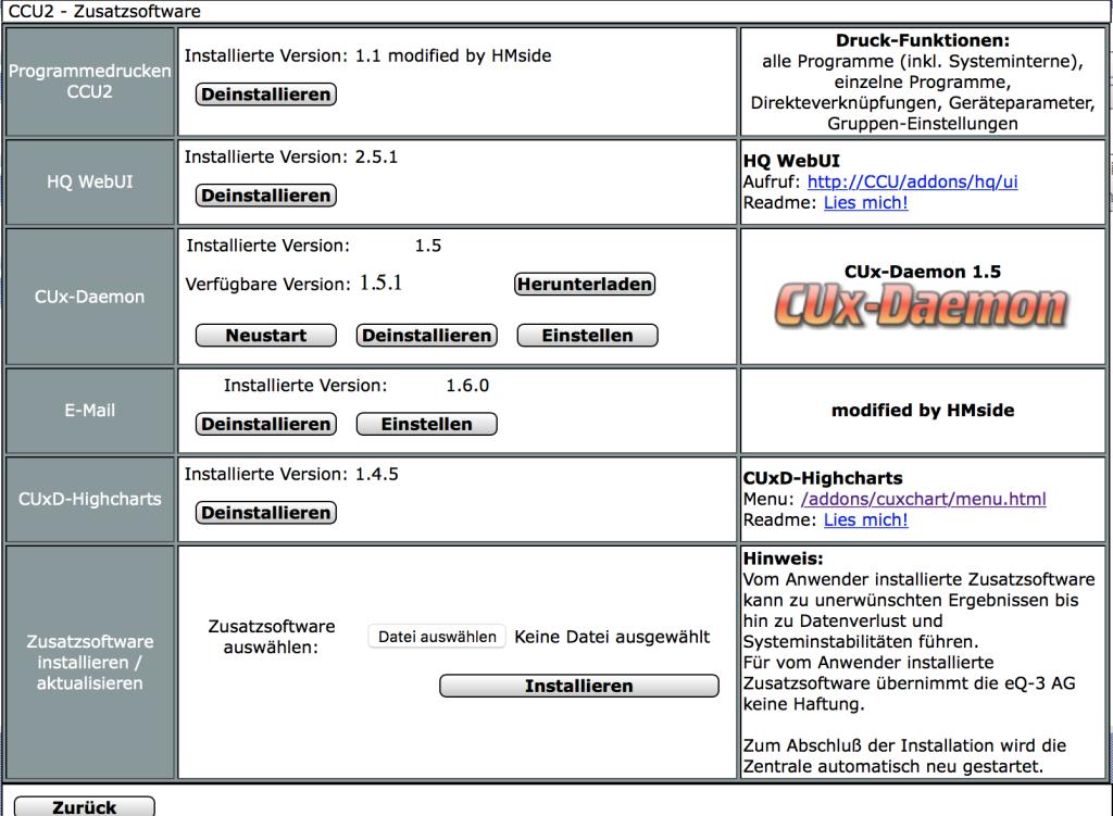 CUxD auf Homematic CCU2 installieren – reddemann.it